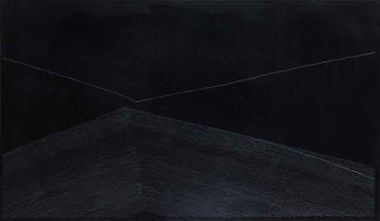 Kreide, Acryl auf Papier auf Nessel, 100x170cm, 2011