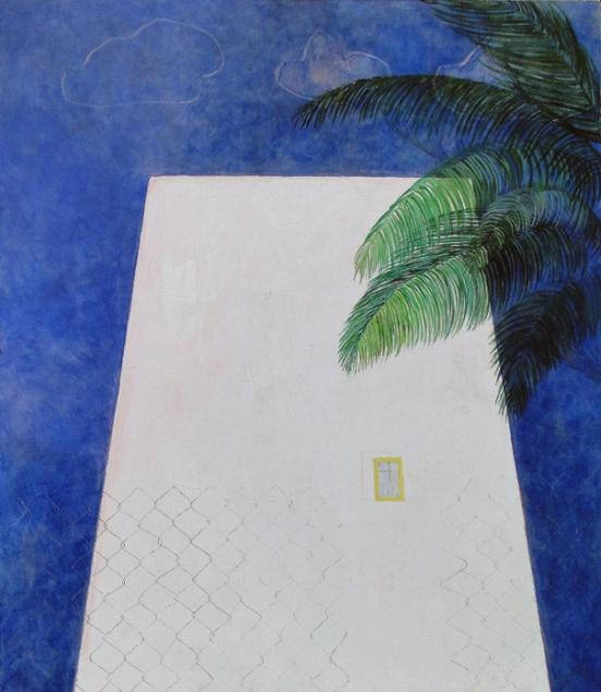 Gelbes Fenster, 4-2006, 10-2014, Öl auf Nessel, 130x110cm Kopie