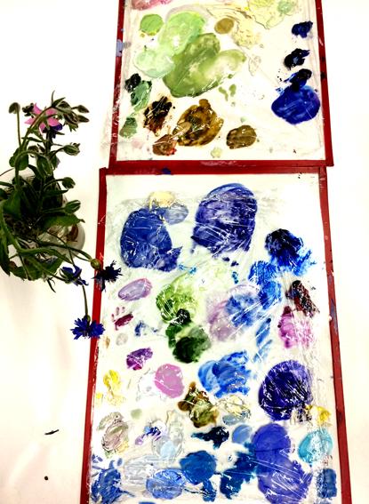 Arbeiten an der Blauen Blume