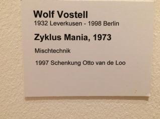 Wolf Vostell, Zyklus Mania 1